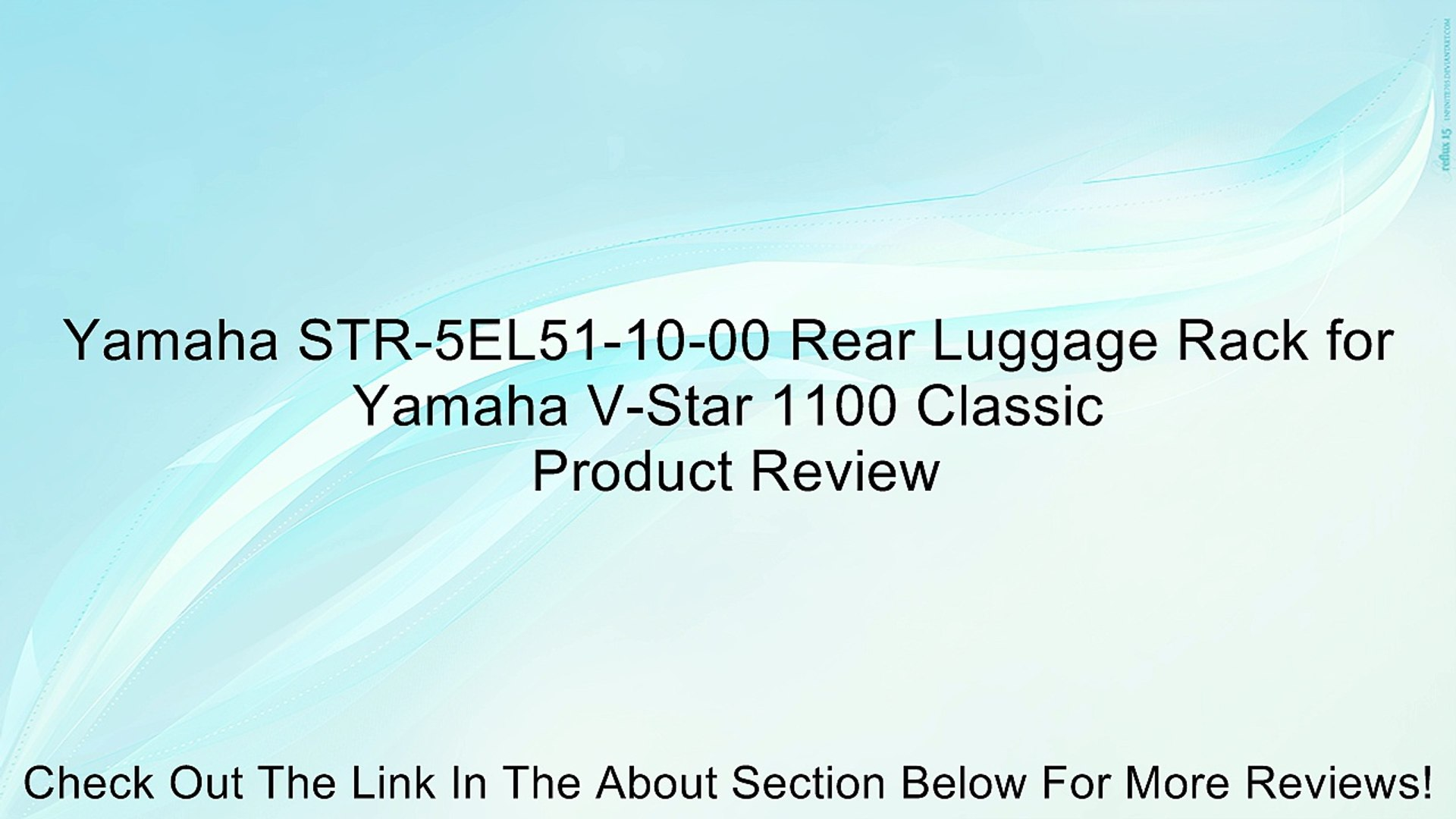 Yamaha STR-5EL51-10-00 Rear Luggage Rack for Yamaha V-Star 1100 Classic  Review