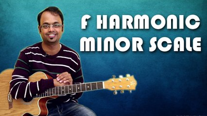 How To Play - F Harmonic Minor Scale - Guitar Lesson For Beginners
