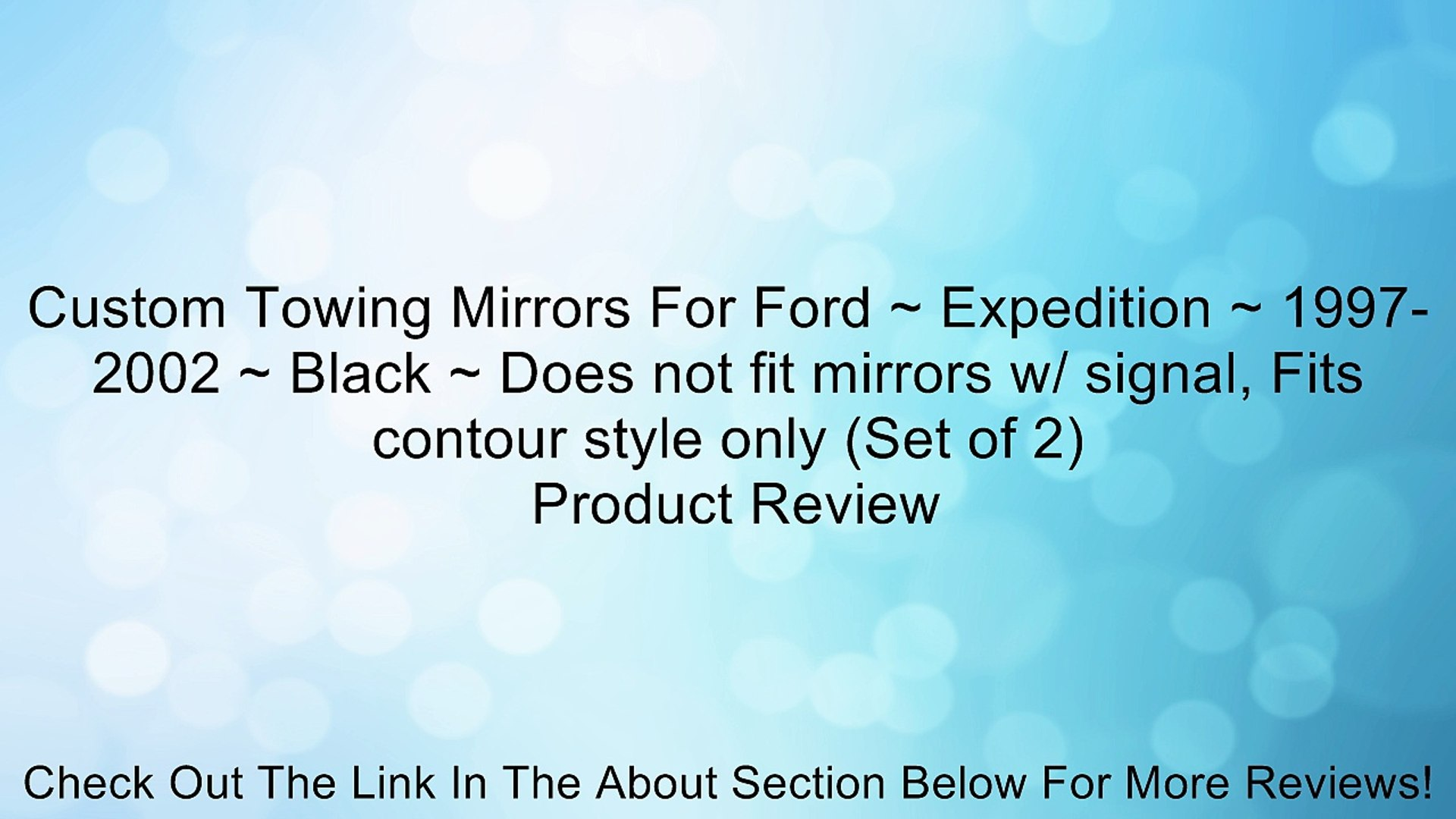 Custom Towing Mirrors For Ford ~ Expedition ~ 1997-2002 ~ Black ~ Does not fit mirrors w/ signal, Fi