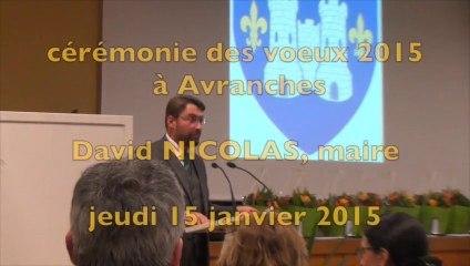 cérémonie des voeux 2015 à Avranches : intervention de David Nicolas, maire