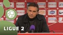 Conférence de presse Stade Brestois 29 - Chamois Niortais (0-0) : Alex  DUPONT (SB29) - Régis BROUARD (NIORT) - 2014/2015
