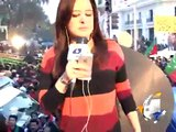 PTI workers attack Geo News van,Abuse Anchorperson Sana Mirza-Geo Reports-15 Dec 2014