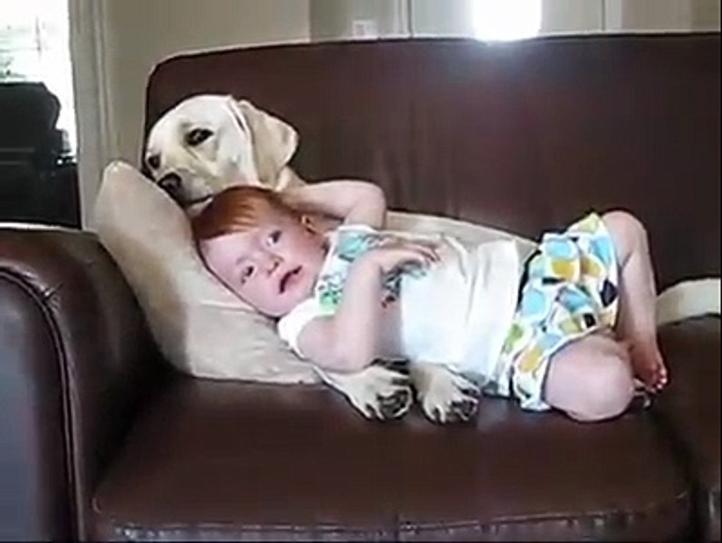 This Baby Girl Loves Her Dog's Tickly Tongue