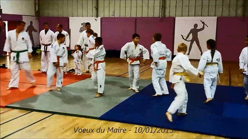 Andeville, démonstration Judo Jujitsu aux voeux du Maire, janvier 2015.