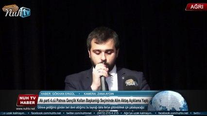 Ak parti 4.cü Patnos Gençlik Kolları Başkanlığı Seçiminde   Alim Aktaş Açıklama Yaptı