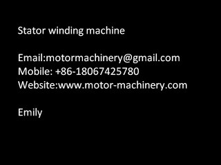 Stator winding machine for 2 pole stator