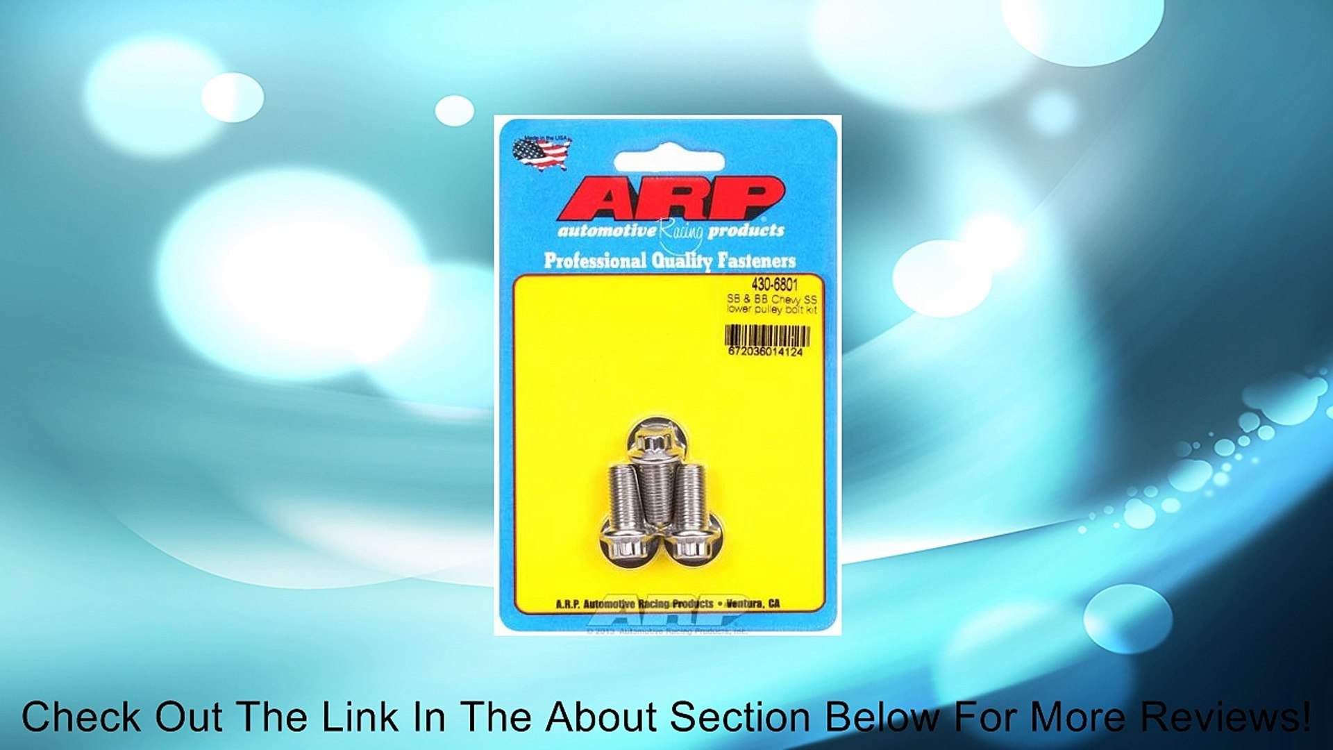 1 ARP Lower Pulley Bolt Kit for Chevrolet Small Block /& Big Block 3 pieces