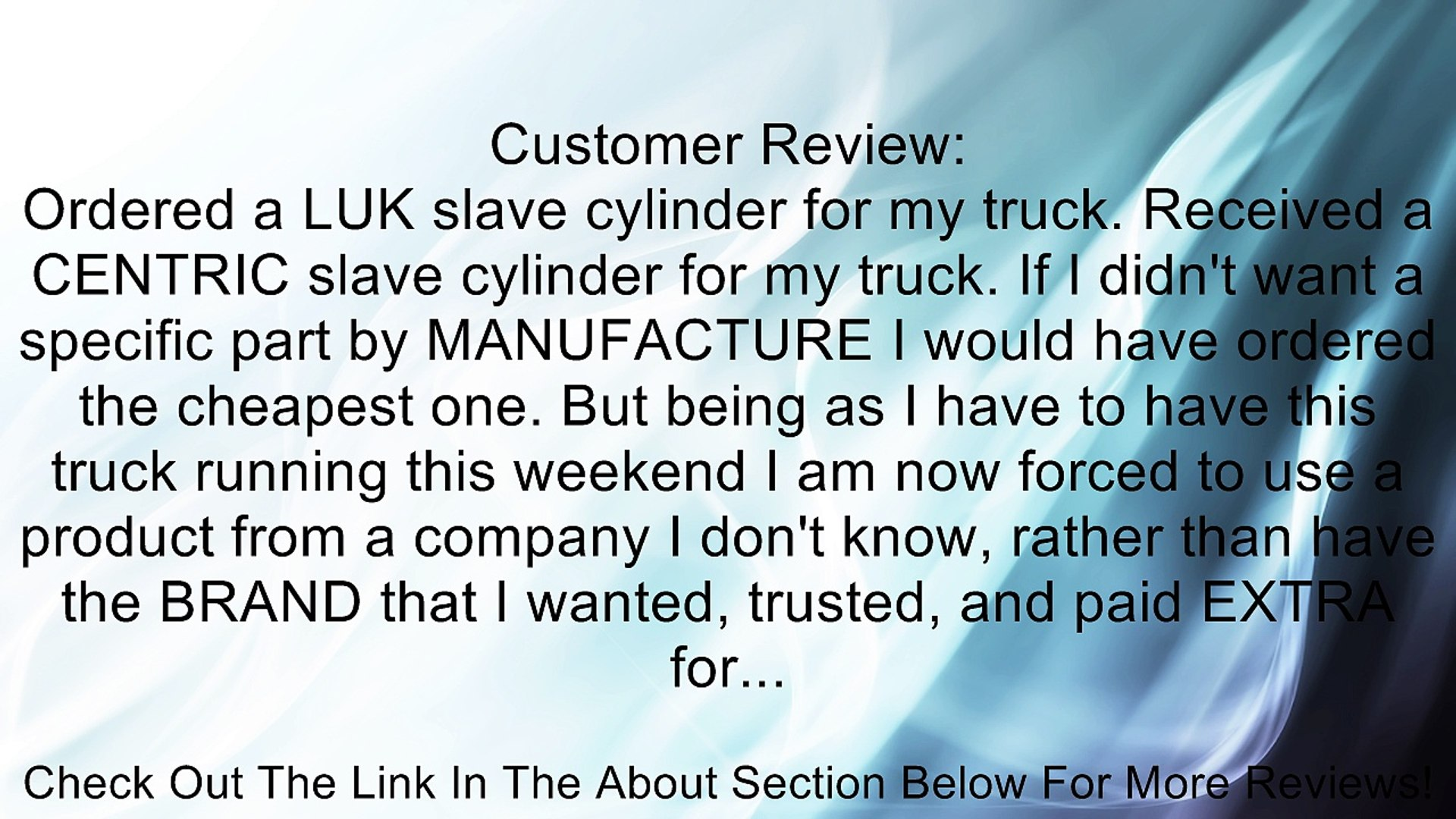 LuK LSC265 Clutch Slave Cylinder Review