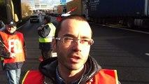 Les routiers en grève sur le périphérique de Caen