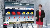 Warmer winter temps to set in Tuesday afternoon
