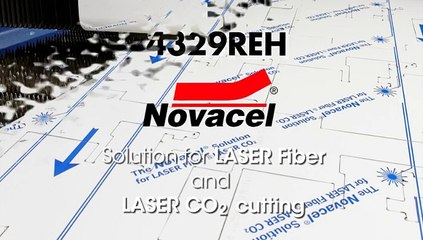Novacel® 4329REH for mill finishes of Stainless Steel and Aluminium during LASER cutting