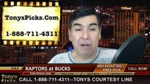 Milwaukee Bucks vs. Toronto Raptors Free Pick Prediction NBA Pro Basketball Odds Preview 1-19-2015