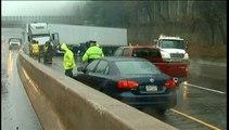 Le verglas cause de multiples accidents sur les routes américaines