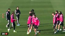 Cristino Ronaldo is the boss at Real Madrid training [2015]