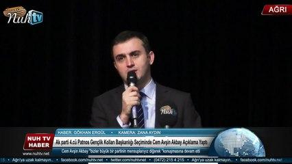 Ak parti 4.cü Patnos Gençlik Kolları Başkanlığı Seçiminde   Cem Avşin Akbay Açıklama Yaptı