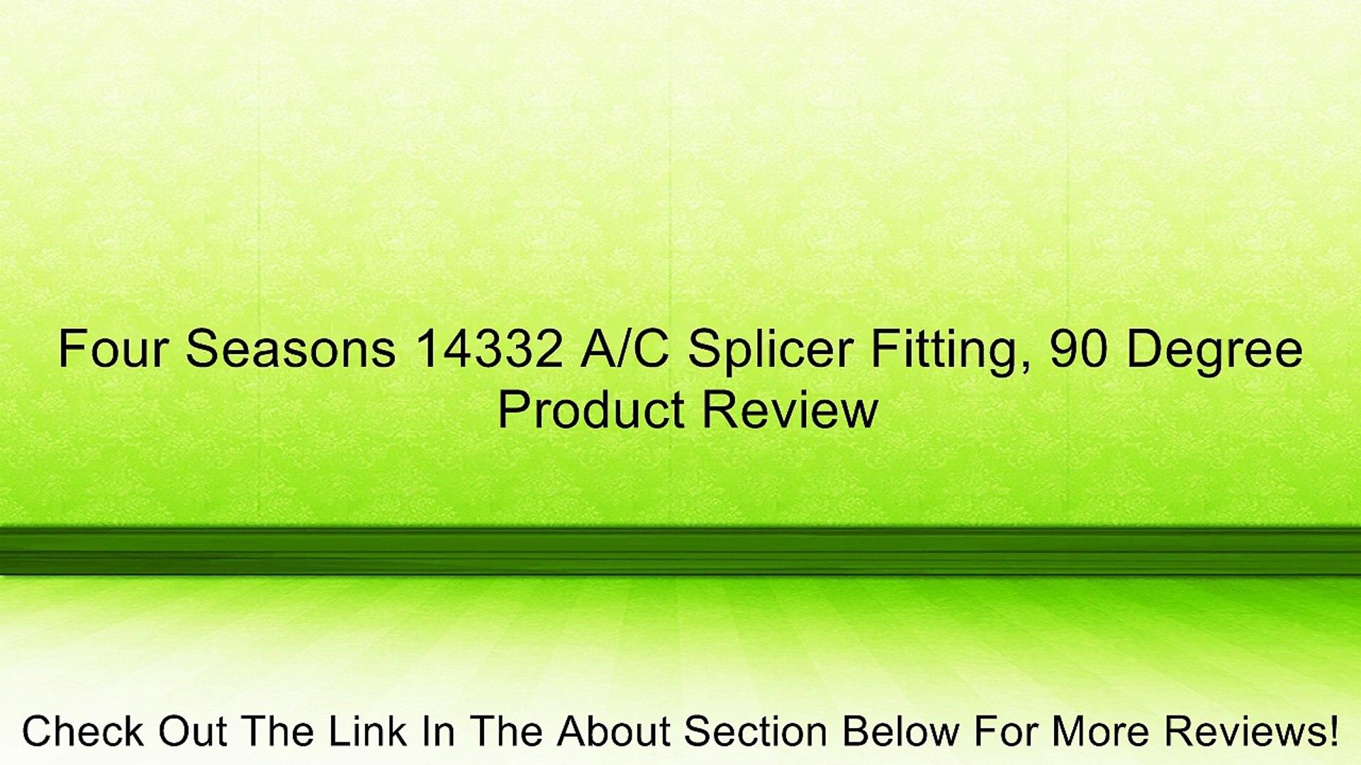 Four Seasons 14332 A//C Splicer Fitting 90 Degree