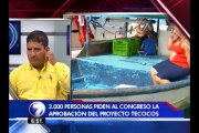 Vecinos de zonas costeras llegan al Congreso para evitar expropiaciones