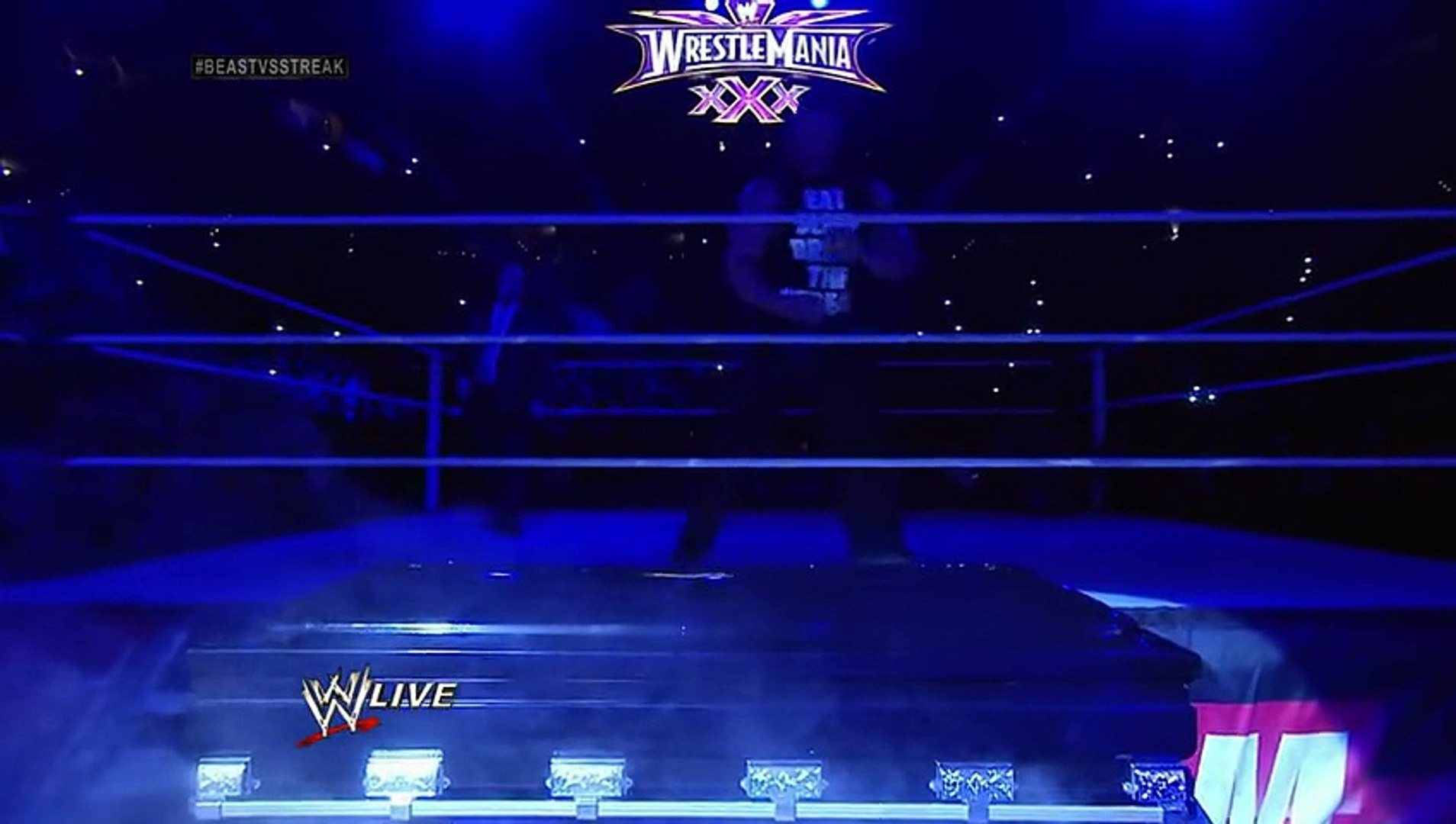 Undertaker rises from a coffin to attack Brock Lesnar- Raw, March 24, 2014