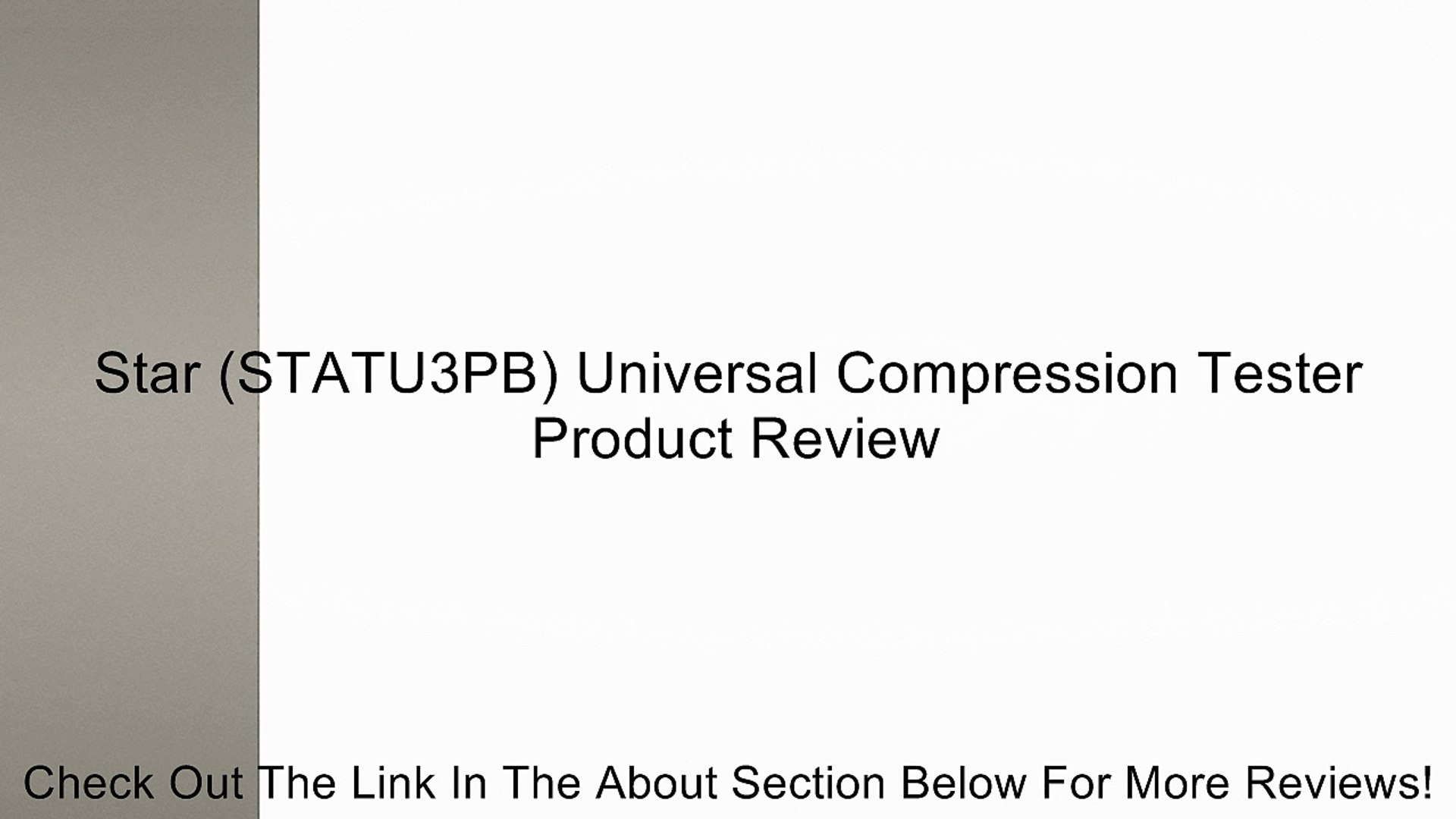 Universal Star Products STATU3PB Compression Tester