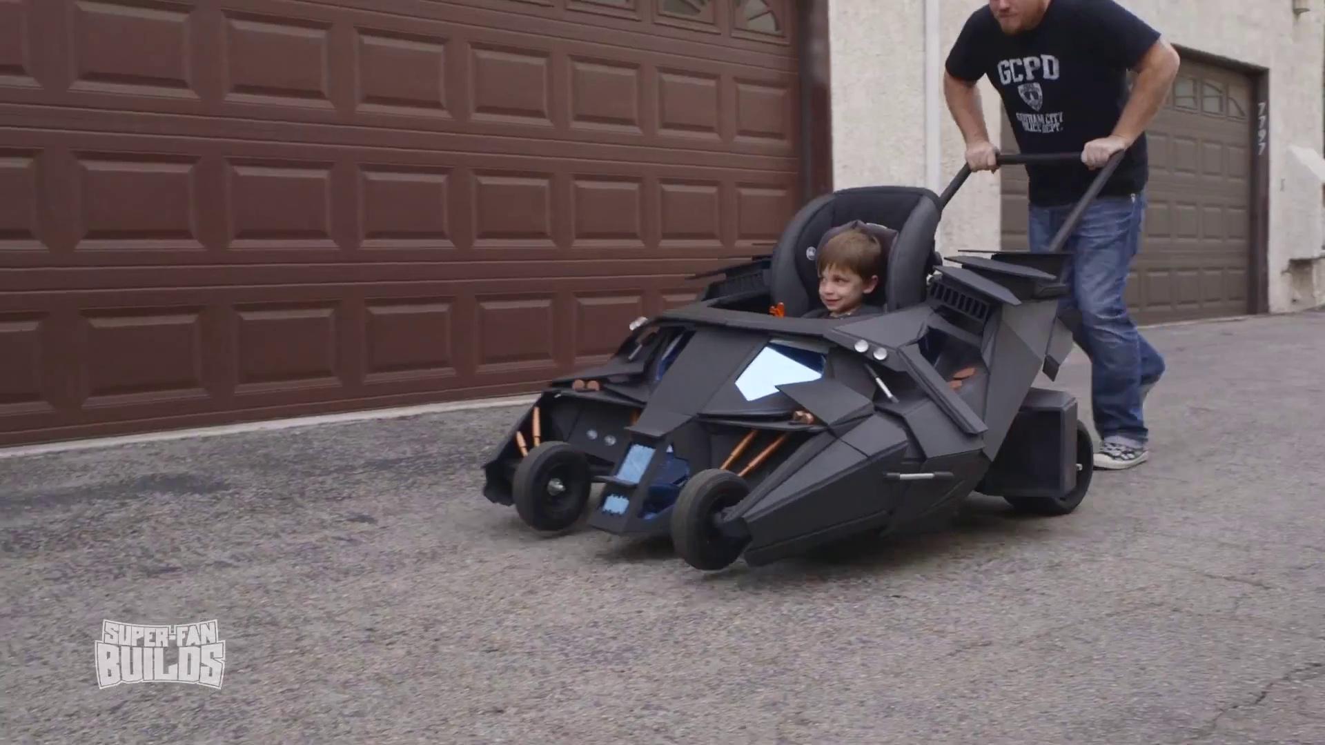 Toddler's Batmobile Stroller from the The Dark Knight