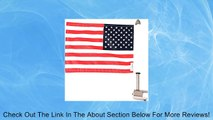 """Pro Pad RFM-SQ Rear Square Motorcycle Flag Mount Kit and 6"""" x 9"""" USA Flag, .625"""" Square Luggage Rack, Fits 1/2"""" Horizontal Square Bar, Stainless Steel, Made in the USA Review"""