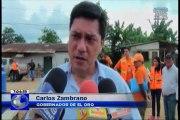 Autoridades llegan a zona de emergencia en El Oro