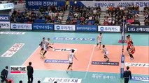 V-League: Samsung Hwajae vs. LIG