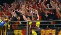 Foot Supporters fair play in Bosnia - Belgium