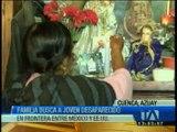 Familia busca a joven desaparecido en la frontera entre México y Estados Unidos