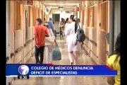 Colegio de Médicos teme que en el 2017 no haya suficientes especialistas