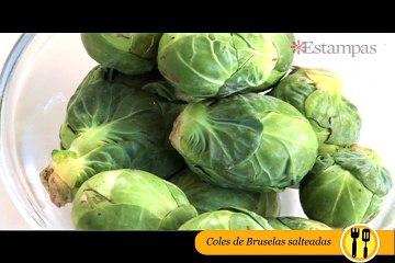 CÓMO HACER COLES DE BRUSELAS SALTEADOS CON TOCINETA Y CEBOLLA
