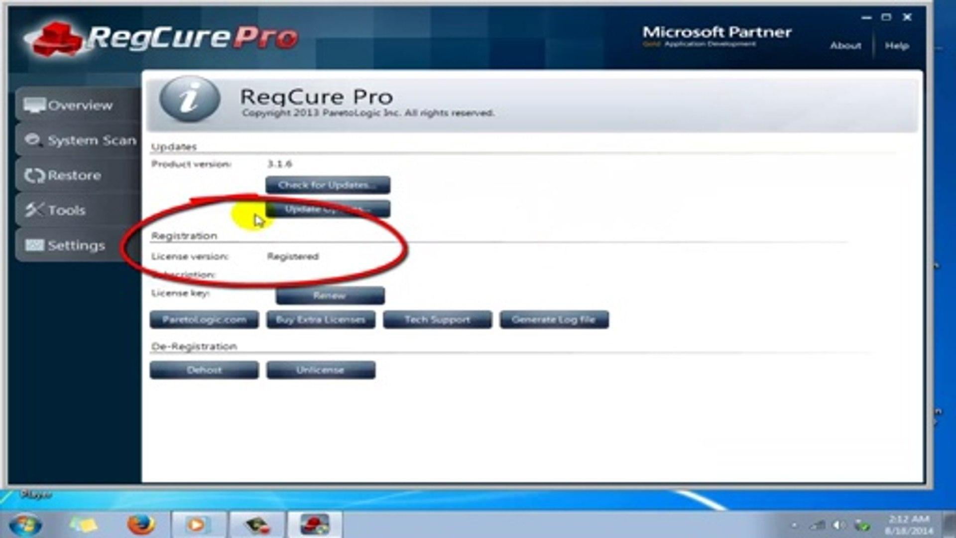 regcure pro 3.2.16 license key