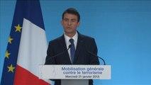 Manuel Valls annonce un arsenal de mesures anti-terroristes