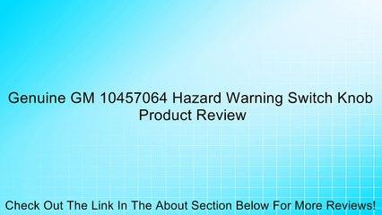 Genuine GM Hazard Switch 10457064