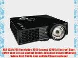 ViewSonic PJD6353S XGA 1024x768 DLP Projector 2500 ANSI Lumens 15000:1 Contrast Ratio - Black