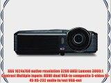 ViewSonic PJD6243 300-Inches 1080p XGA 1024x768 DLP Projector 3200 ANSI Lumens 3000:1 contrast