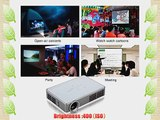 Excelvan? 360 Degree Flip Image Mini Portable DLP Mini 3D HD Projector for Home Theater 2D