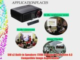 EUG 2600 Lumens 1080p LED 3D Home Theater Office Projector 50000 Hours For Lamp 1280*720 HDMI