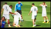Cristiano Ronaldo Fouls Gareth Bale - Bale Owns Ronaldo In Real Madrid Training