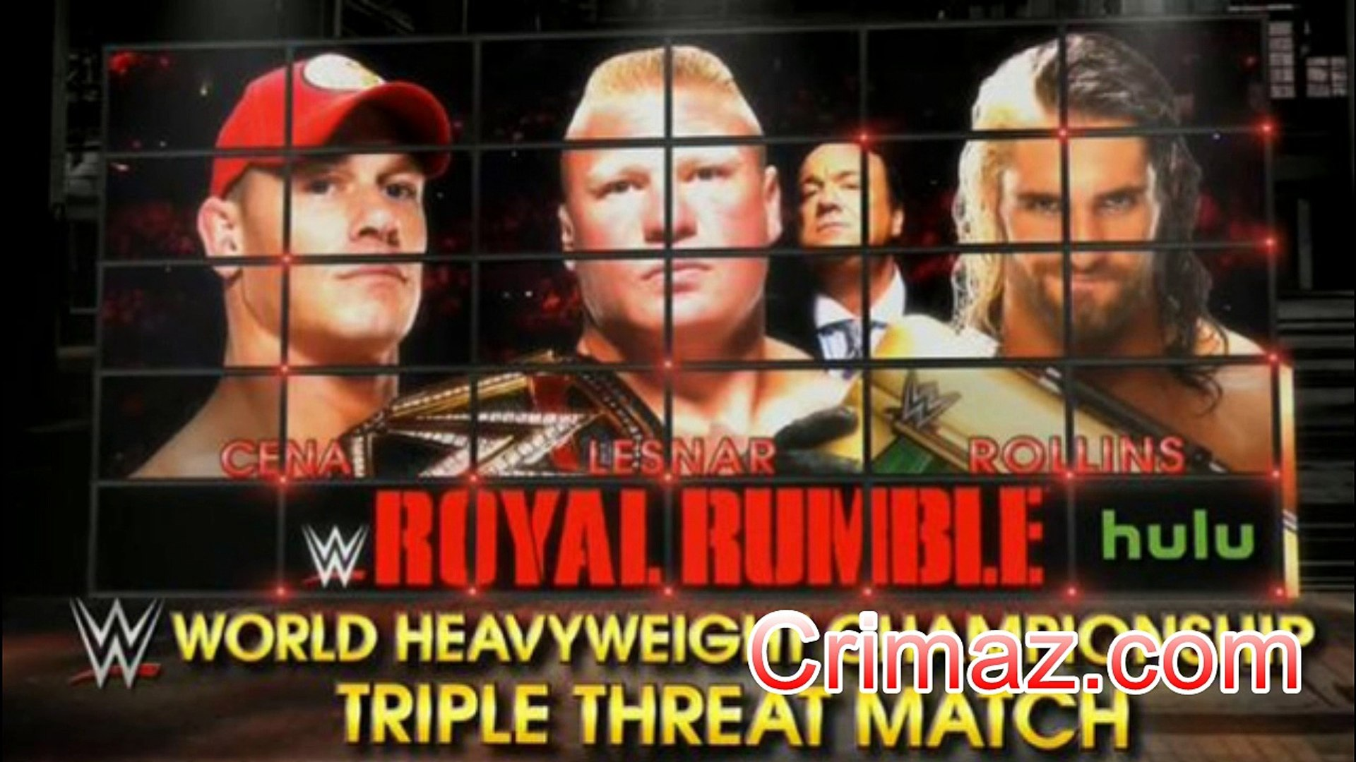 Watch WWE Royal Rumble 2015 - 1-25-2015 - January 25th 2015 Match Card (Crimaz com)