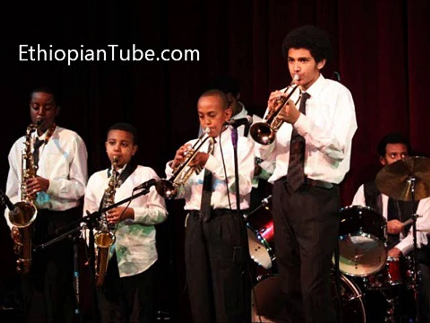 Ethiopia - The Young Ethio Jazz Band ages 10 to 15 bring back traditional Ethiopian jazz - YouTube