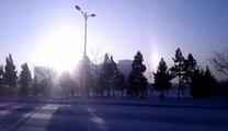 Rare optical phenomenon creates three suns in the sky