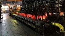 Fabrication de bouteilles à l'usine de Vayres (33)