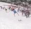 Ski sliding fail