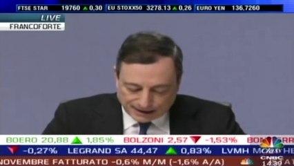 Bce, Draghi: sì ad acquisto di titoli per 60 mld al mese