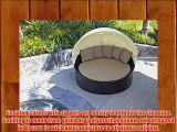 Harmonia Living Wink Outdoor Modern Wicker Daybed with Tan Sunbrella Cushion (SKU HL-WINK-1DB-HB)
