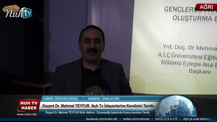 Doçent Dr. Mehmet TEYFUR  Nuh Tv İzleyenlerine Kendisini Tanıttı