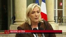 Marine Le Pen chute dans les sondages