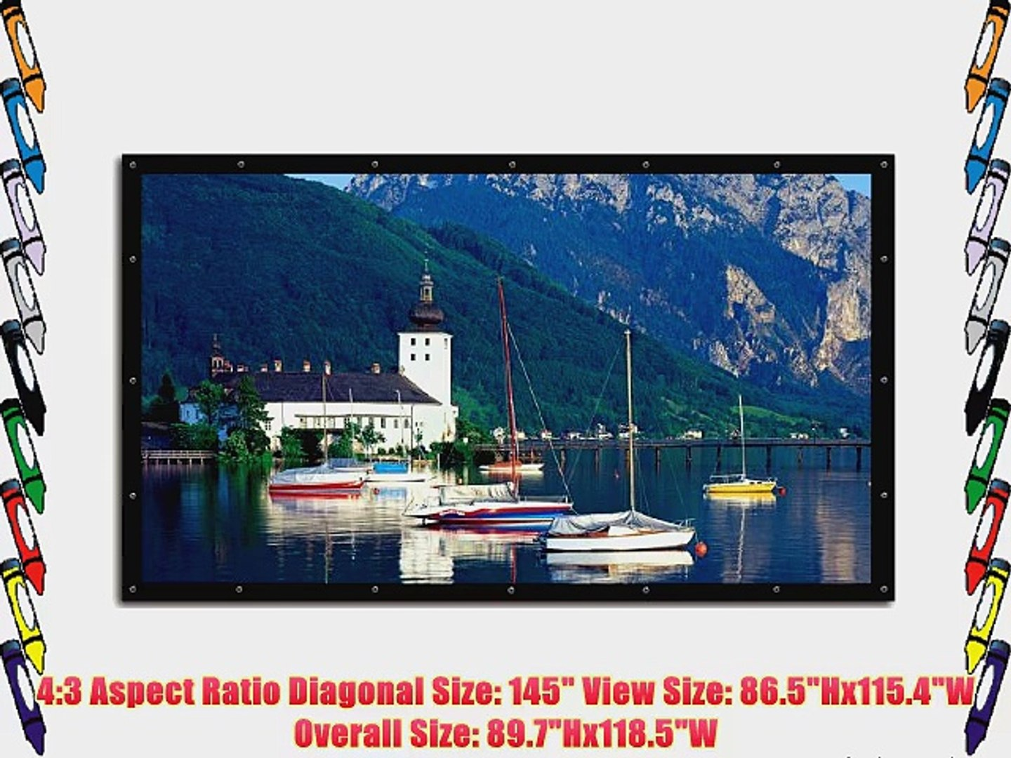 Elite Screens 145 Inch 4 3 Diy Screen Indoor And Outdoor Projection Screen 86 5hx115 4w