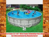 Intex Ultra Frame 22' X 52 Ultra Frame Swimming Pool Round Pool Set (Discontinued By Manufacturer)